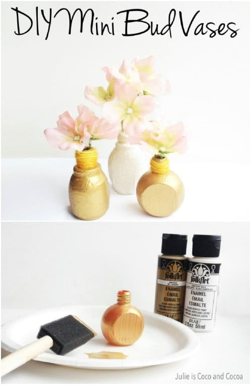 Repurposed Nail Polish Bottle Vases