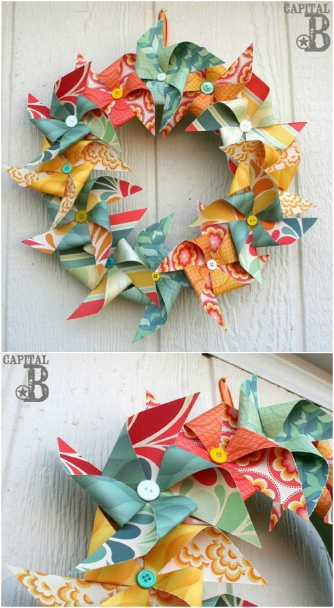 Fun DIY Pinwheel Wreath