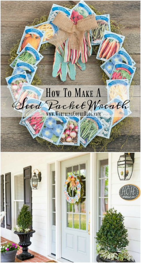 Repurposed Seed Packed Summer Wreath