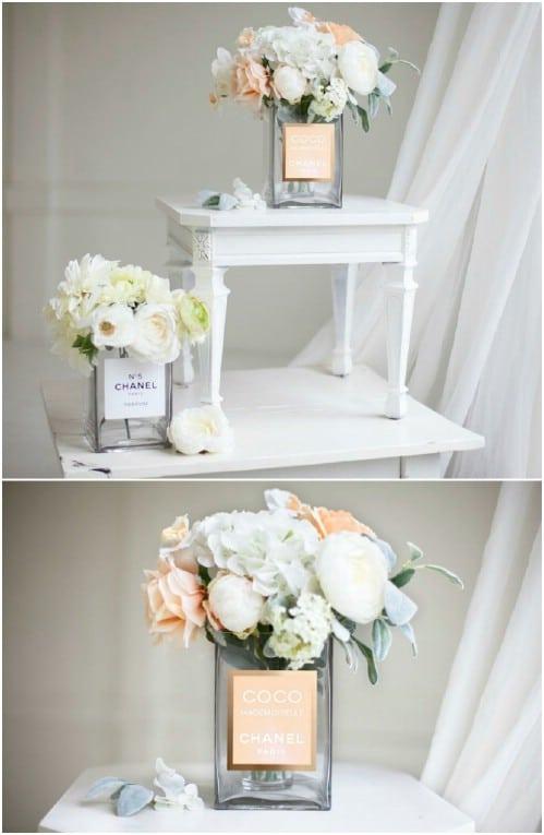 DIY Designer Perfume Inspired Vases