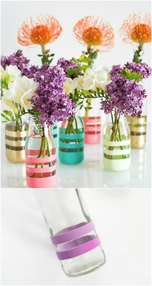 Pottery Barn Inspired Striped Vases