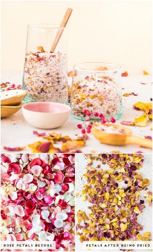 Homemade Rose Petal Bath Salts