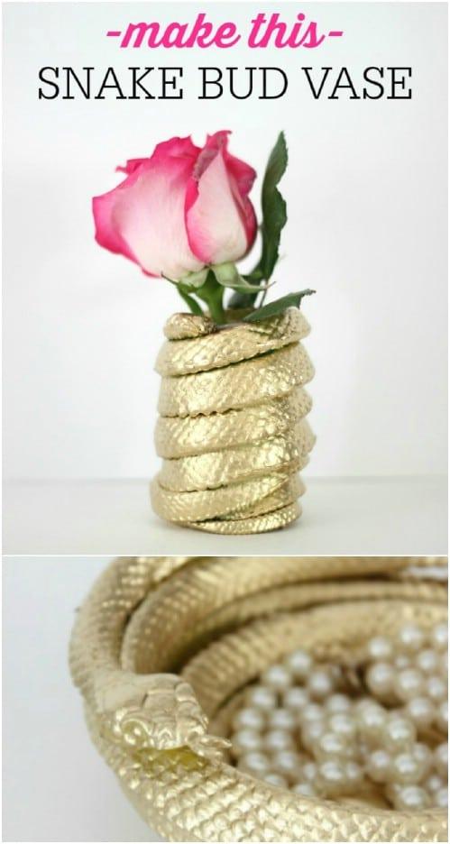 DIY Snake Bud Vase