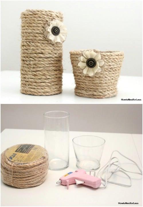 DIY Sisal Rope Vase