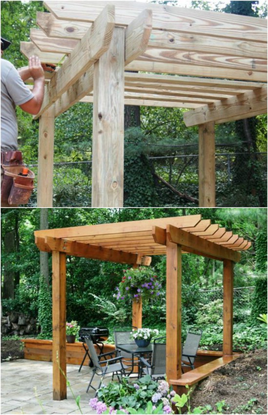 Simple 4 Step DIY Pergola