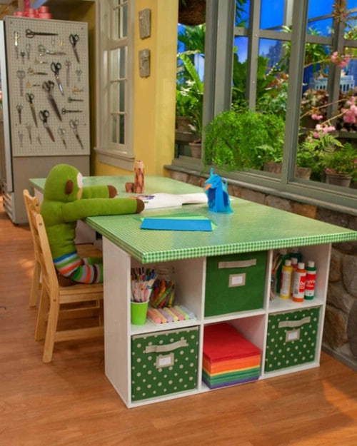Fun And Colorful DIY Crafting Desk