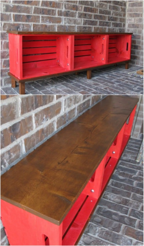 Easy DIY Crate Bench