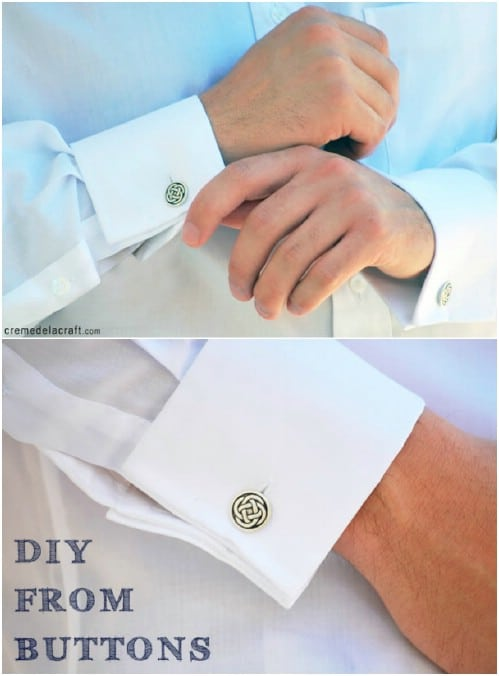 Easy DIY Cufflinks From Buttons