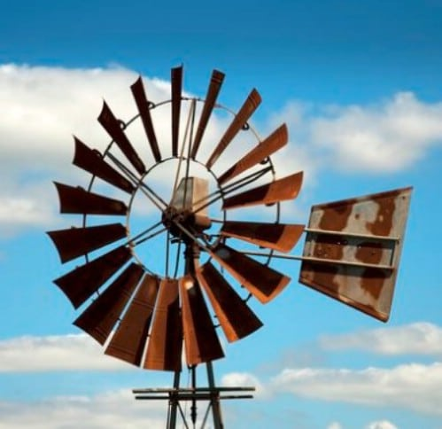 Four Foot Metal Bladed DIY Windmill