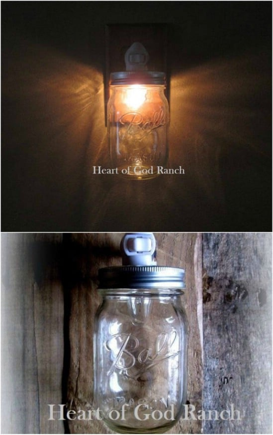 Pint Sized Mason Jar Clear Nightlight