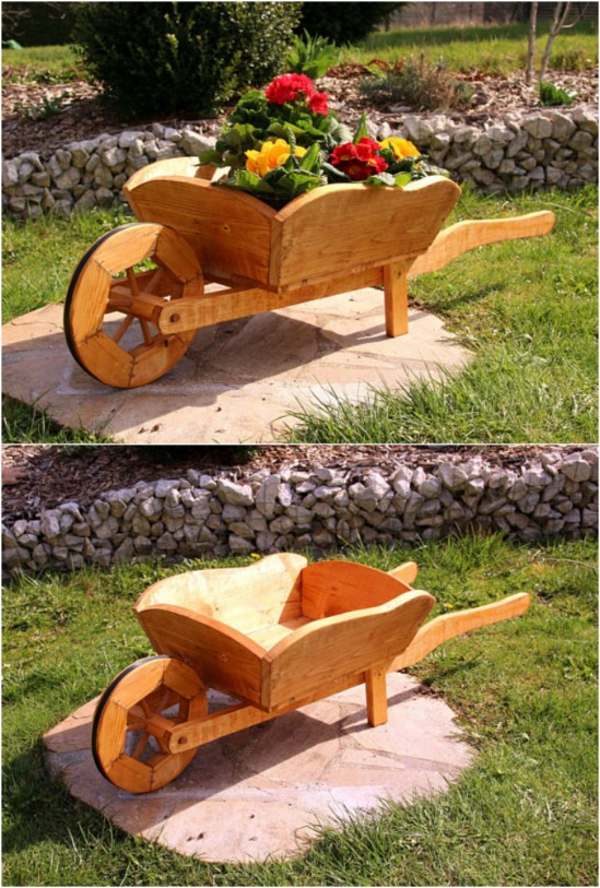 18 Cool Wheelbarrow Repurposing Ideas For Gorgeous Home And