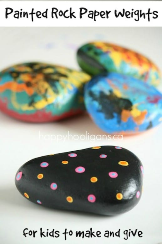 Simple Painted Rock Paper Weight