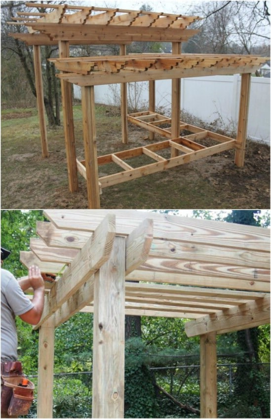 Easy DIY Pergola With Tables