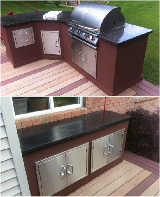 15 Amazing Diy Outdoor Kitchen Plans You Can Build On A Budget Diy Crafts