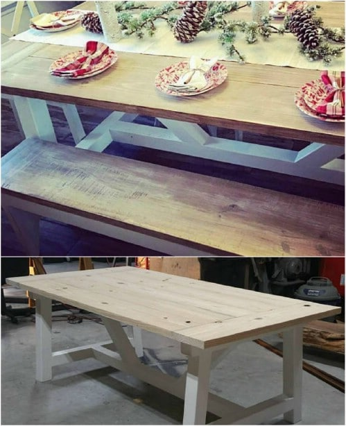 DIY Farmhouse Picnic Table