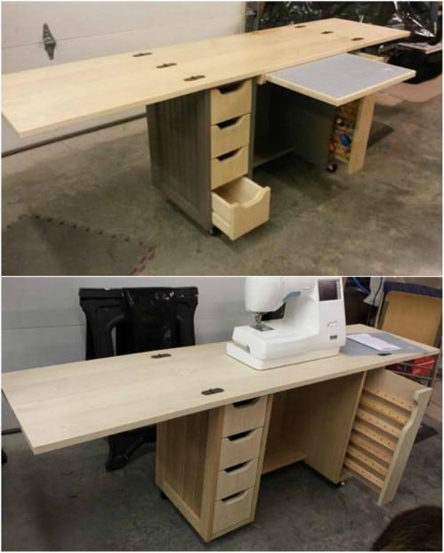 Shaker Style Fold Out Desk