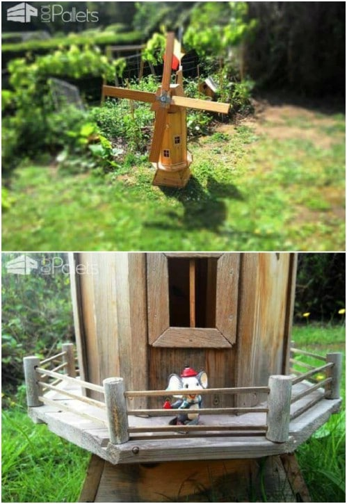 Gorgeous DIY Upcycled Pallet Windmill