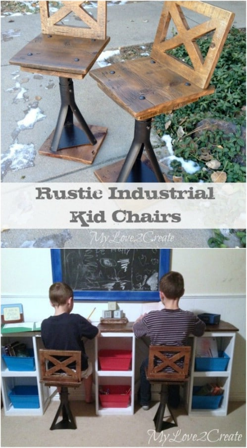 Adorable Upcycled Car Jack Kids' Stools