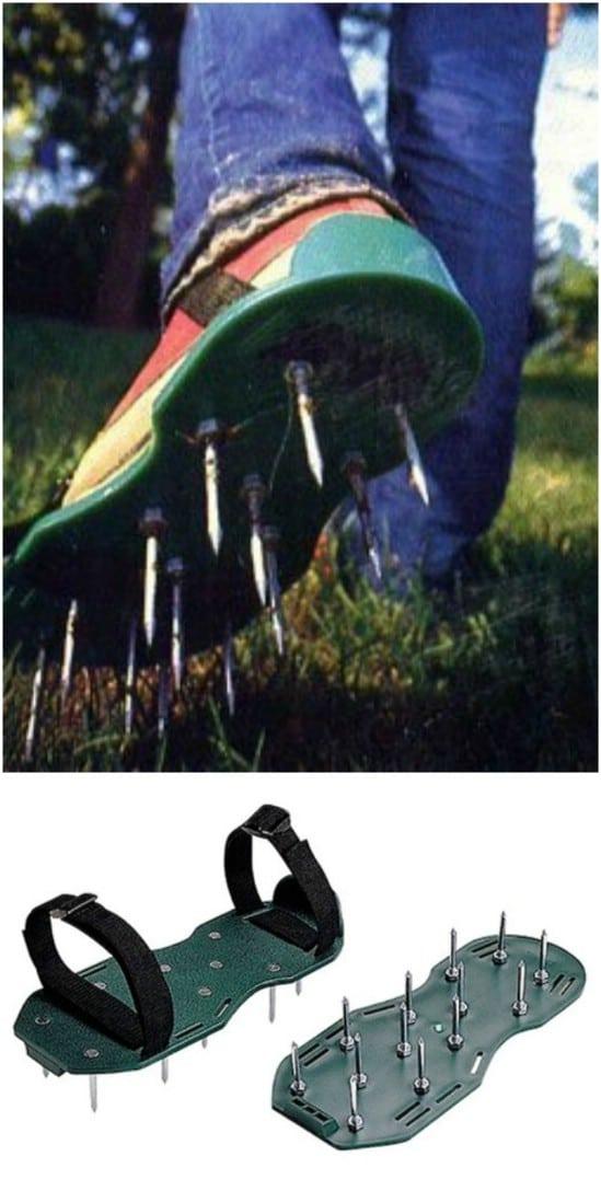 DIY Plexiglass Lawn Aerator Sandals