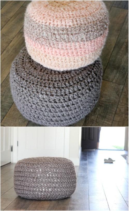 DIY Crocheted Floor Cushions