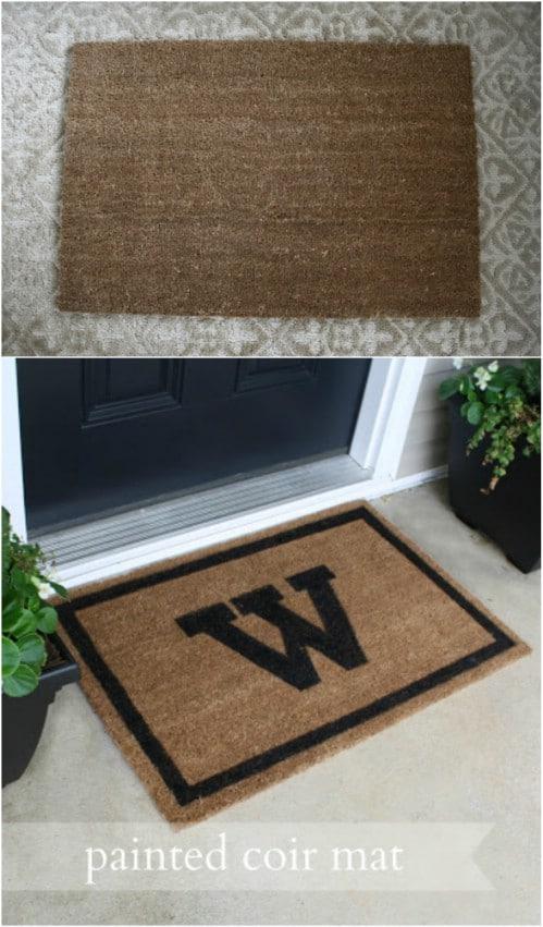 DIY Monogrammed Porch Mat