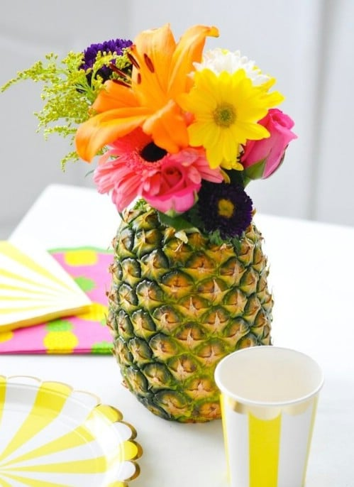 Summery DIY Pineapple Vase