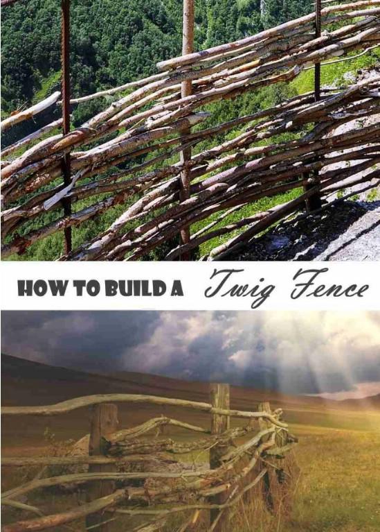 DIY Rustic Twig Fence