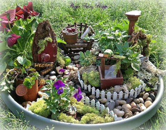 Rustic Planter DIY Fairy Garden