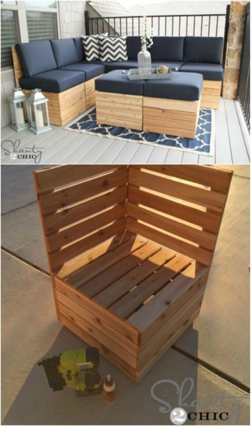DIY Outdoor Modular Seating