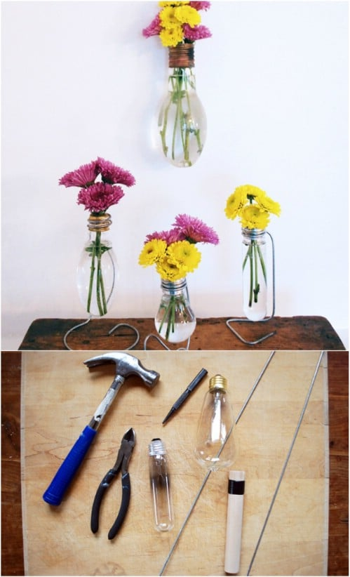 Easy Lightbulb Vases