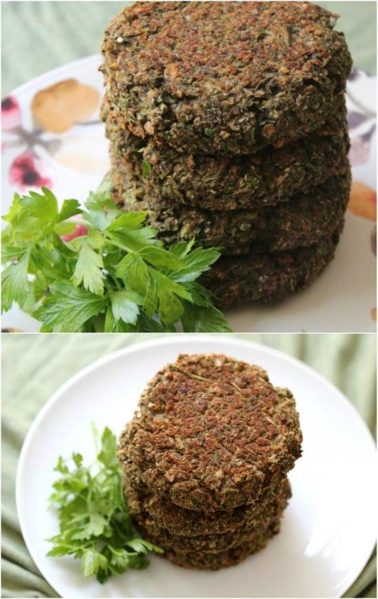 Homemade Garden Veggie Burgers