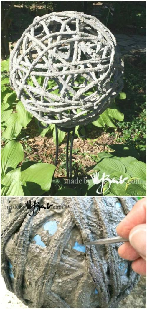DIY Concrete Garden Orbs