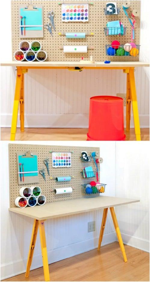 Cute DIY Kids' Craft Station
