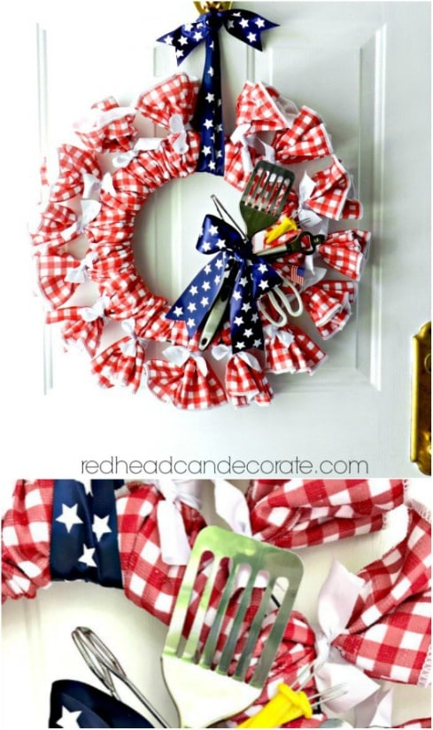 Patriotic DIY Summer Wreath