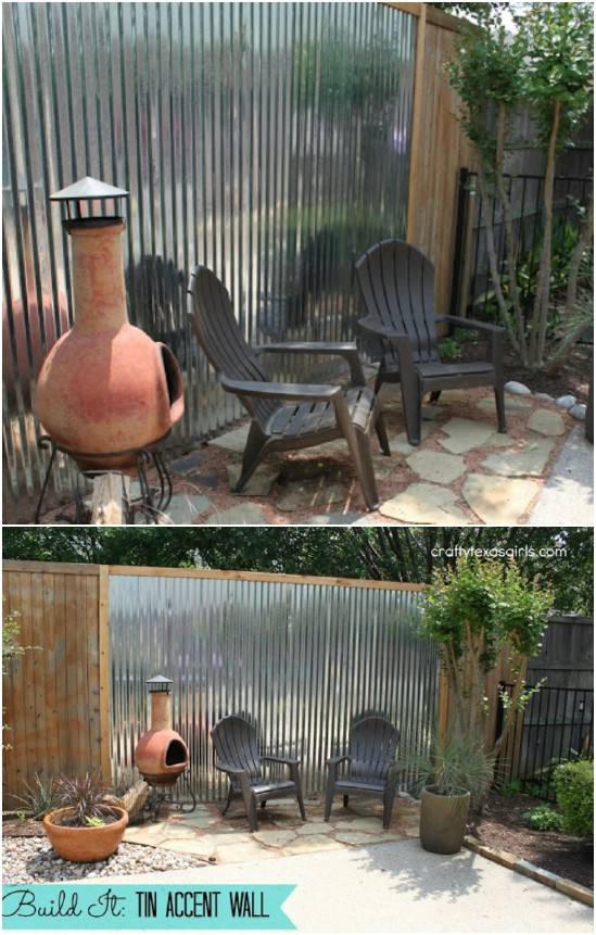 DIY Tin Accent Fence