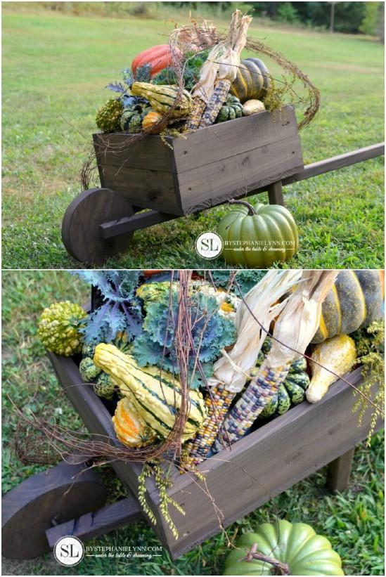 Gorgeous Seasonal Wheelbarrow Display