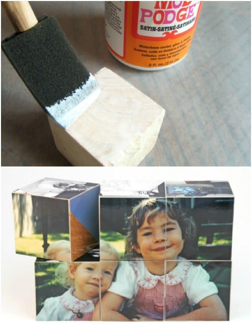 DIY Father's Day Photo Blocks