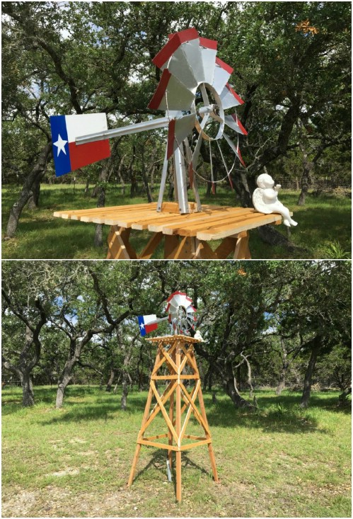 DIY Windmill With Wooden Base