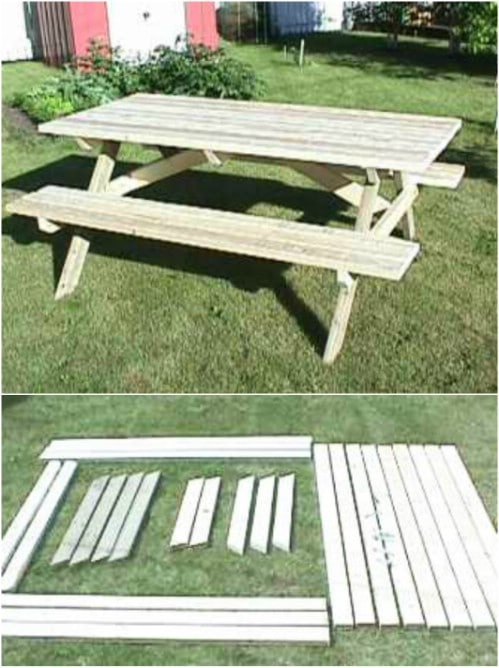 DIY Traditional A Frame Picnic Table