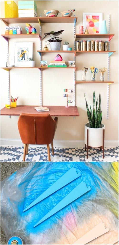 DIY Wall Mounted Craft Desk