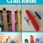 Popsicle stick crafts collage