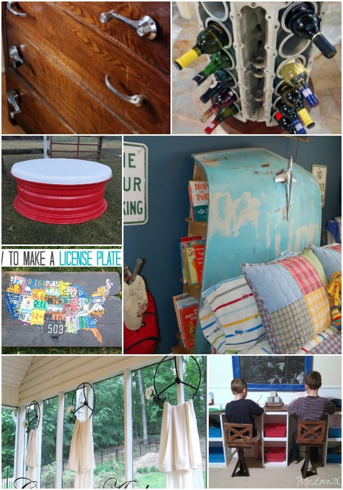 10 Imaginative Ways To Repurpose Old Car Parts Into Amazing Home