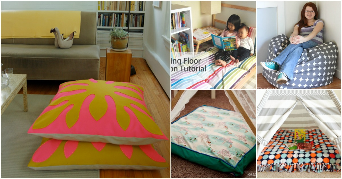 Fabulous 22 Easy Diy Giant Floor Pillows And Cushions That Are Fun Machost Co Dining Chair Design Ideas Machostcouk