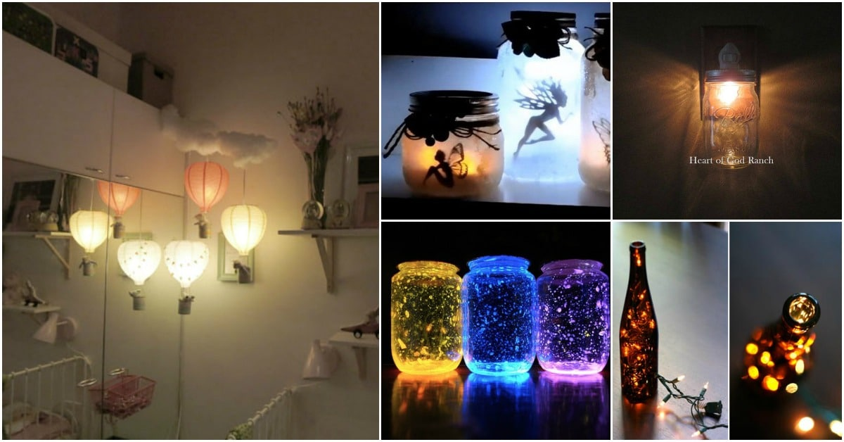 25 Gorgeous Diy Nightlights To Match Any Home Decor Diy Crafts