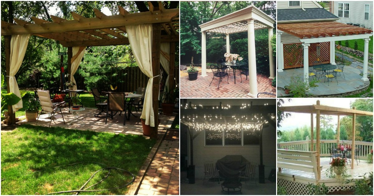 20 Diy Pergolas With Free Plans That