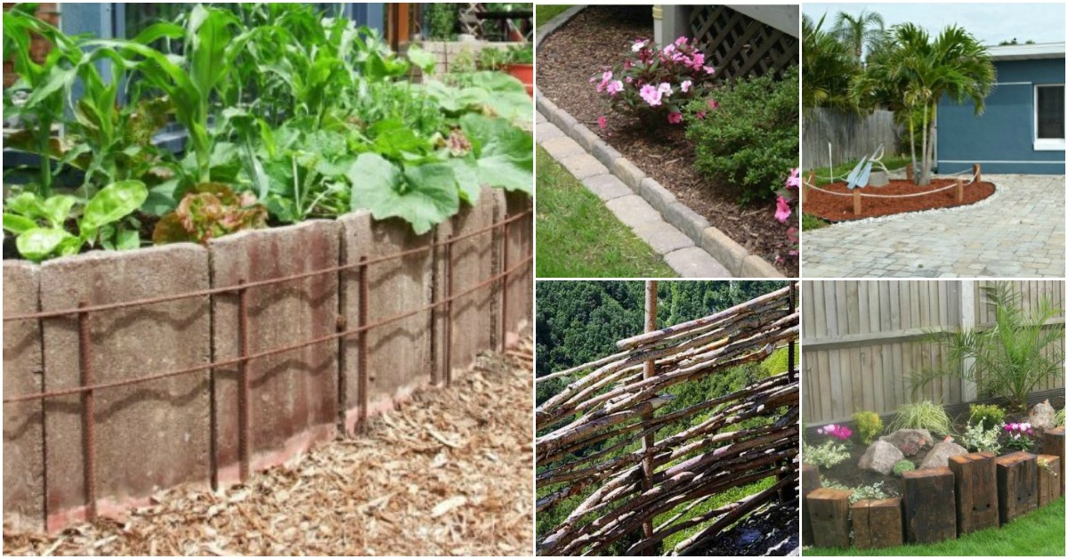15 Easy And Decorative Diy Fencing Edging Ideas For Your Garden