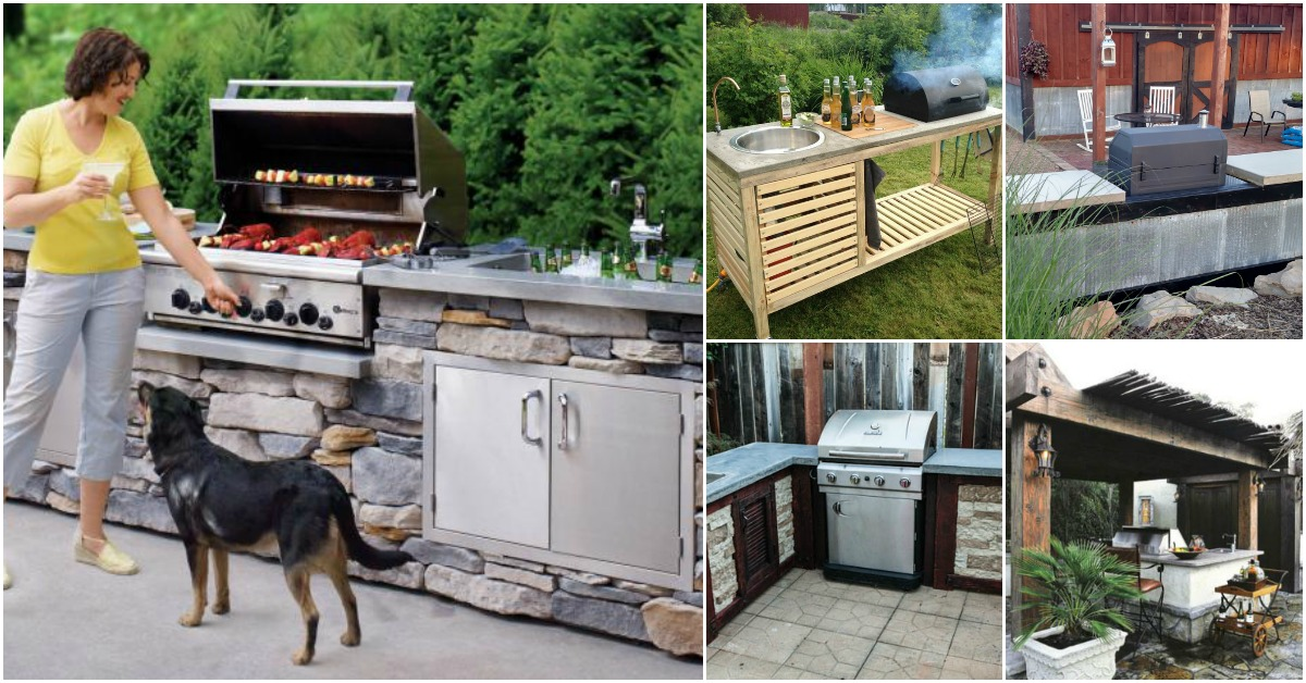 Incroyable 15 Amazing DIY Outdoor Kitchen Plans You Can Build On A Budget   DIY U0026  Crafts