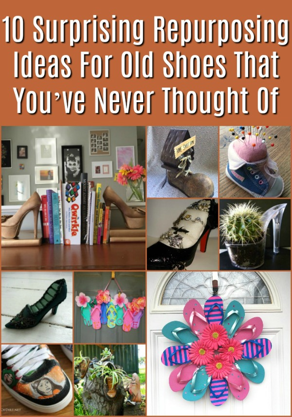 10 Surprising Repurpose Ideas for Old Shoes that You've Never Thought of