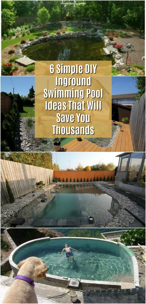 6 Simple Diy Inground Swimming Pool Ideas That Will Save You Thousands Diy Crafts