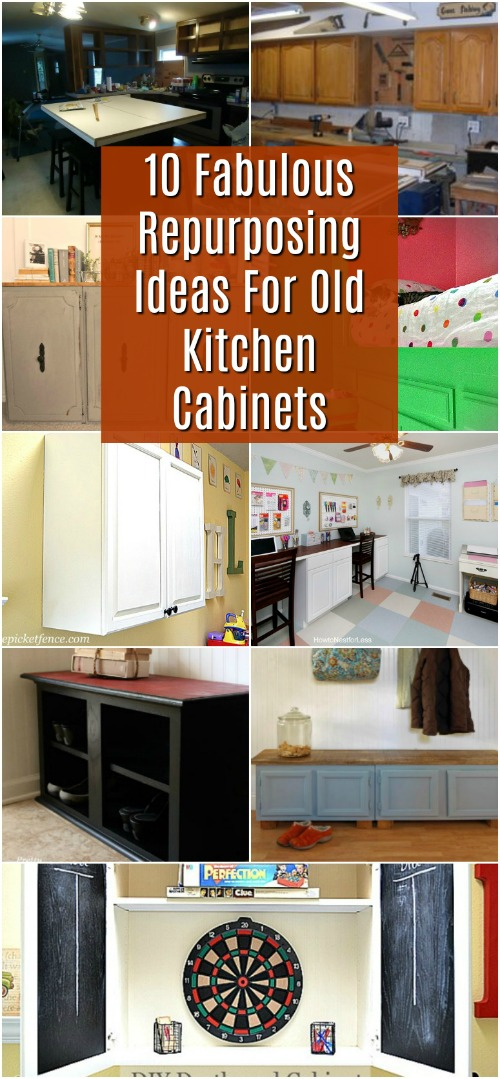 10 Fabulous Repurpose Ideas For Old Kitchen Cabinets